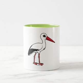Birdorable White Stork Two-Tone Coffee Mug