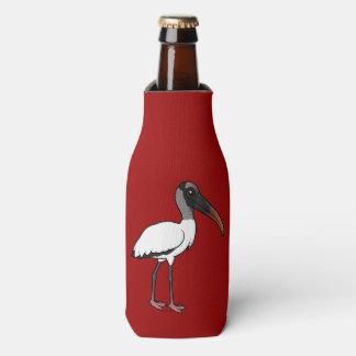 Birdorable Wood stork Bottle Cooler