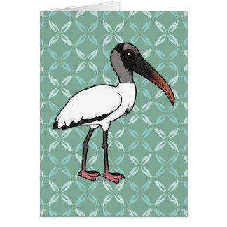 Birdorable Wood stork Card