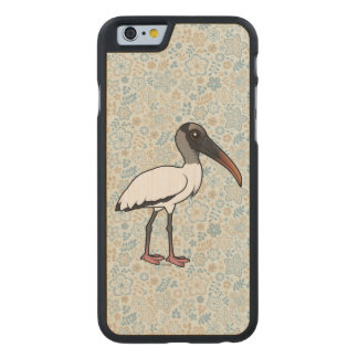 Birdorable Wood stork Carved® Maple iPhone 6 Slim Case