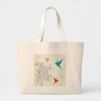 Birds a flower2 large tote bag