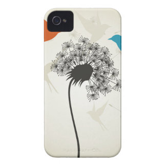 Birds a flower3 iPhone 4 cases