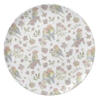Birds and Bees Melamine Plate
