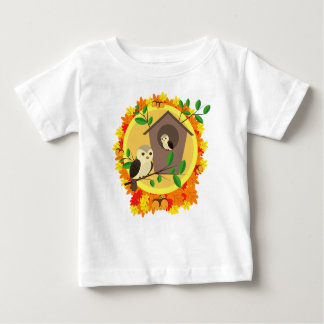 Birds And Birdhouse In The Autumn Baby T-Shirt