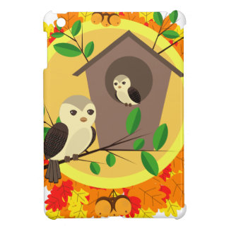 Birds And Birdhouse In The Autumn iPad Mini Cover