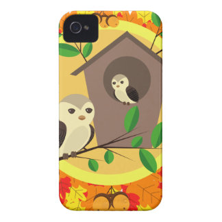 Birds And Birdhouse In The Autumn iPhone 4 Case