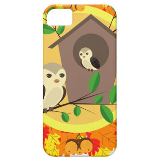 Birds And Birdhouse In The Autumn iPhone 5 Covers