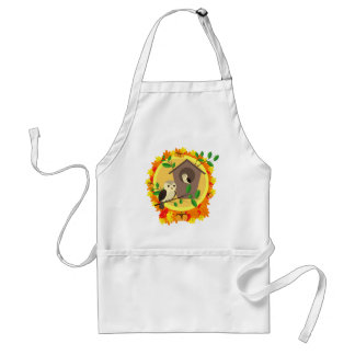 Birds And Birdhouse In The Autumn Standard Apron
