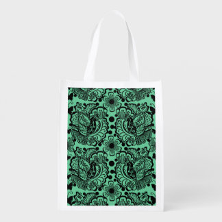 Birds and Butterflies Patterned Grocery Bag