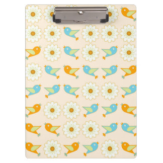 Birds and daisies clipboard
