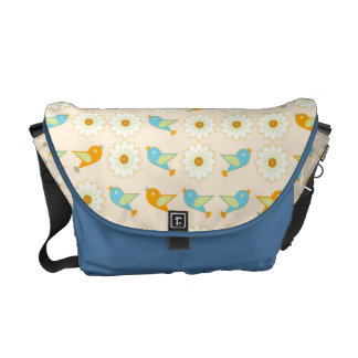 Birds and daisies commuter bags