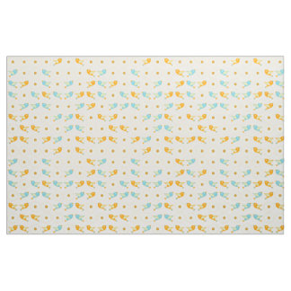 Birds and daisies fabric
