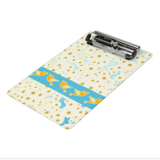 Birds and daisies mini clipboard
