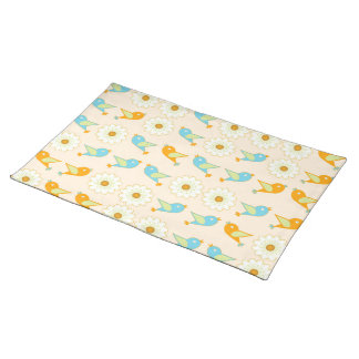 Birds and daisies placemats
