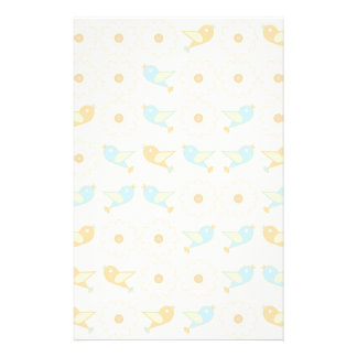 Birds and daisies stationery