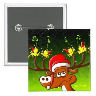 Birds' and Deer's Christmas Celebration Concert 15 Cm Square Badge