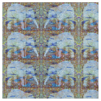 Birds and Elephants Pattern Fabric