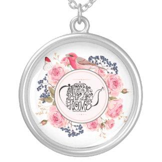 birds and flower jewelry