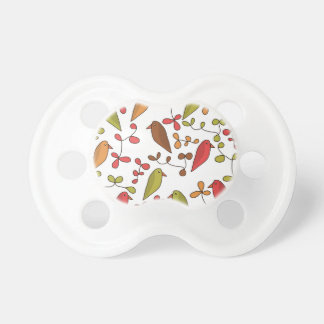 Birds and flowers 3 pacifiers