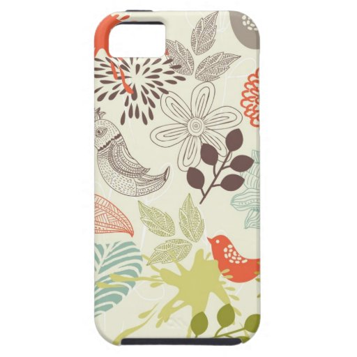 birds and flowers iPhone 5 case
