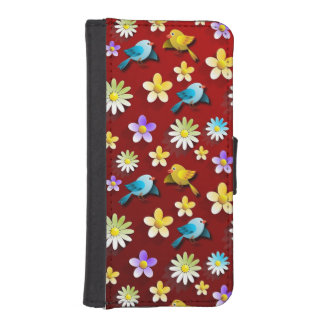 Birds and Flowers iPhone SE/5/5s Wallet Case