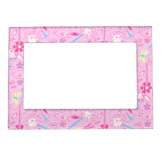 Birds and flowers magnetic picture frame