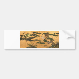 Birds and Flowers of the Four Seasons Bumper Sticker