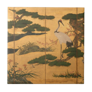 Birds and Flowers of the Four Seasons Ceramic Tile