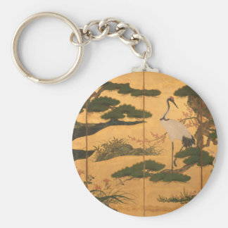 Birds and Flowers of the Four Seasons Key Ring