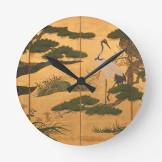 Birds and Flowers of the Four Seasons Round Clock