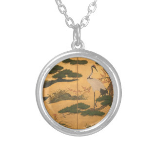 Birds and Flowers of the Four Seasons Silver Plated Necklace