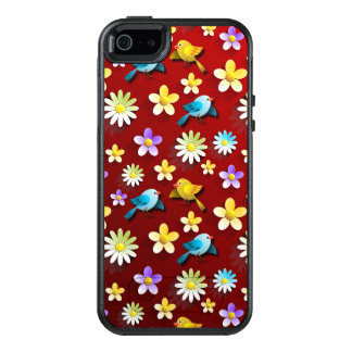 Birds and Flowers OtterBox iPhone 5/5s/SE Case