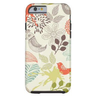 birds and flowers tough iPhone 6 case
