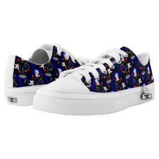 BIRDS AND HEARTS DESIGN LOW TOP SHOES PRINTED SHOES