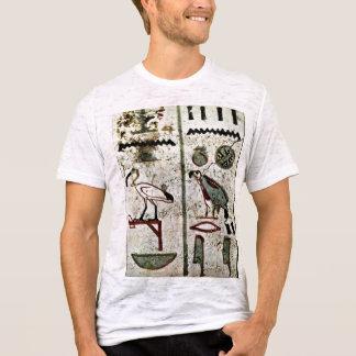 Birds And Hieroglyphs By Maler Der Grabkammer Des T-Shirt