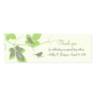 Birds and Leaves Special Occasion Favor Tags Business Card Templates