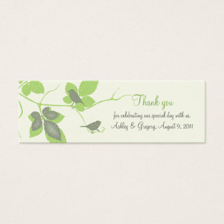 Birds and Leaves Special Occasion Favor Tags Mini Business Card