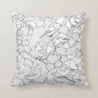 Birds and Maple Tree U-Paint Fabric Cushion