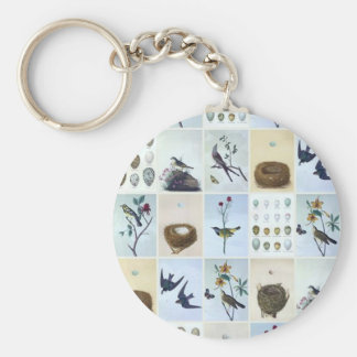 Birds and Nests Key Ring