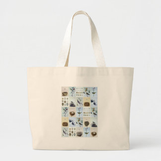 Birds and Nests Large Tote Bag