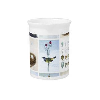 Birds and Nests Pitcher
