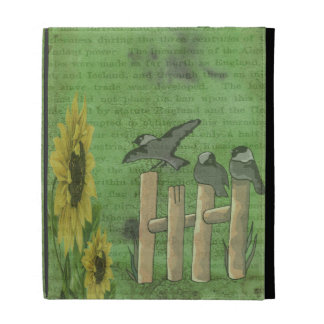 Birds and Sunflowers iPad Folio Cover