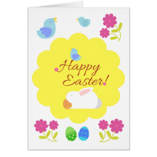 "Birds are singing: ""Happy Easter!"" Easter Card"
