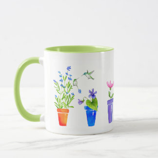 Birds, Blossoms and Flowerpots Mug