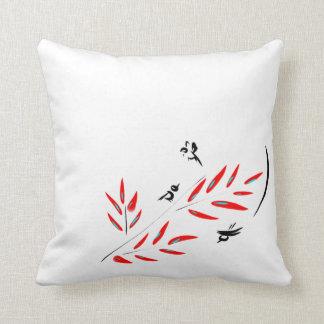 Birds & Branches Throw Pillow