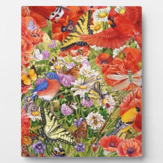 Birds, Butterflies and Bees Easel Plaque