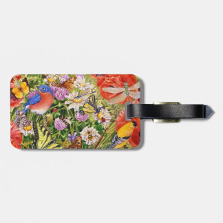 Birds, Butterflies and Bees Luggage Tag