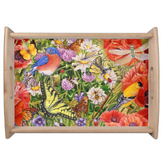 Birds, Butterflies and Bees Serving Tray