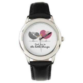 Birds Cartoon Cute Nostalgic Romantic Tender Chic Watch