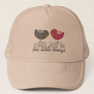 Birds Cartoon Tender Nostalgic Emotional Simple Trucker Hat